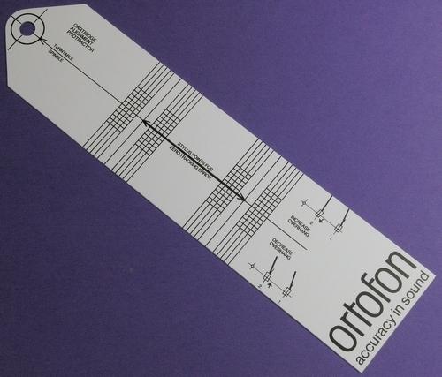 Ortofon Protractor - Instelsjabloon